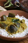 Vangi Dal or eggplant / brinjal dal curry