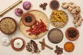 stock photo of rajasthani  - Ingredients which is commonly used in rajasthani cuisines - JPG