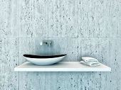 picture of wash-basin  - Closeup of modern wash basin - JPG