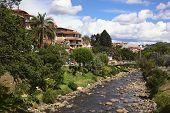 River Tomebamba in Cuenca, Ecuador