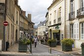 An Ancient Lane In The Historical Center Of Autun. Burgundy, France
