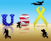 Yellow Ribbon for USA