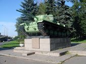 SAINT-PETERSBURG-Russia-August-5-2012, Soviet tank KV-85