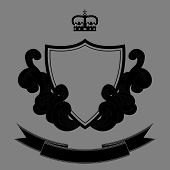 Vector Illustration Of Retro Grunge Heraldic Shield...