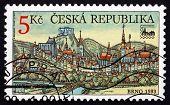 Postage Stamp Czechoslovakia 2000 View Of Brno