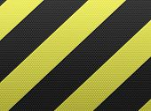 Hazard stripes sign