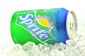 Sprite drink in a can isolated on white background