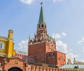Troitskaya (trinity) Tower In The Moscow Kremlin