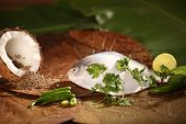 Ingredients for baked/steamed Parsi fish