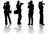 Cuatro fotógrafos