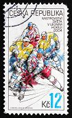 Postage Stamp Czechoslovakia 2004 Hockey Players In Action