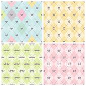 Seamless baby background collection.