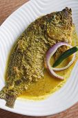 Maacher jhol or light fish curry from bengal