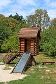Childrens Wooden Playhouse With Slide