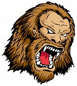 picture of bigfoot  - An Angry Monster Head Fierce sharp teeth - JPG