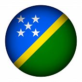 Solomon Islands Flag Button.