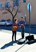 Street Musicians Playing - Roanoke, Virginia, USA