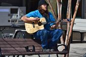 Street Musician - Roanoke, Virginia, USA