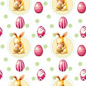 Illustration of a seamless Easter Sunday template