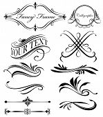 picture of divider  - A Group of fancy swirls page spacers dividers - JPG