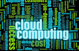 picture of computer technology  - Cloud Computing Technology Concept as a Abstract - JPG