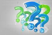 Background With Question Marks