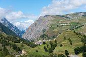 Mount Les Terrasses And City Of La Grave (france)