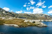 Dam Of Lucendro, Gotthard Pass, Canton Of Ticino (switzerland)
