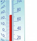 Thermometer illustration on a white background