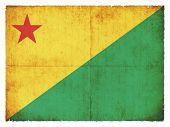 Grunge Flag Of Acre (brazil)