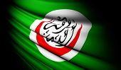 Organisation Of Islamic Cooperation Flag Waving On The Wind