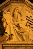 Moses - Rome - detail of monument by Spain stairs