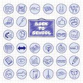 Doodle school buttons.