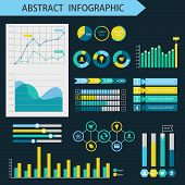 Infographic design elements. Presentation page