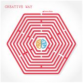 Creative Hexagon Maze Sign