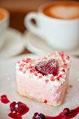 tasty heart-shaped valentine cake