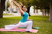 Enjoying Yoga Outdoors