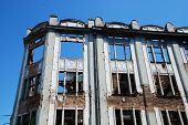 foto of derelict  - An historic derelict building in central Sarajevo in Bosnia and Herzegovina - JPG