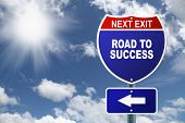 Interstate sign Road To Success