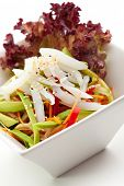 Japanese Salad - Calamary with Fresh Fruit and Vegetables
