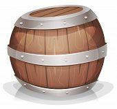 Cartoon-funny-wood-barrel