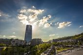 Tower Of Glass In Bilbao