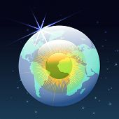 eyeball globe in space