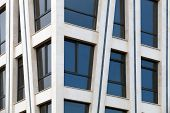 Modern Architecture Abstract Fragment With White Walls And Windows