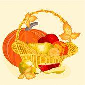 Fruit Celebratory  Christmas Thanksgiving Celebration Vector