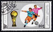 Postage Stamp Mongolia 1990 Soccer Player In Action
