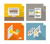 Modern gadgets and web page templates collection. Design elements
