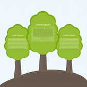 Infographic Of Ecology. Concept Design With Tree.