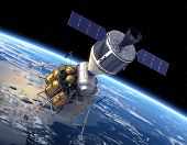 stock photo of ares  - Crew Exploration Vehicle Orbiting Earth - JPG