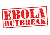 picture of hemorrhage  - EBOLA OUTBREAK red Rubber Stamp over a white background - JPG